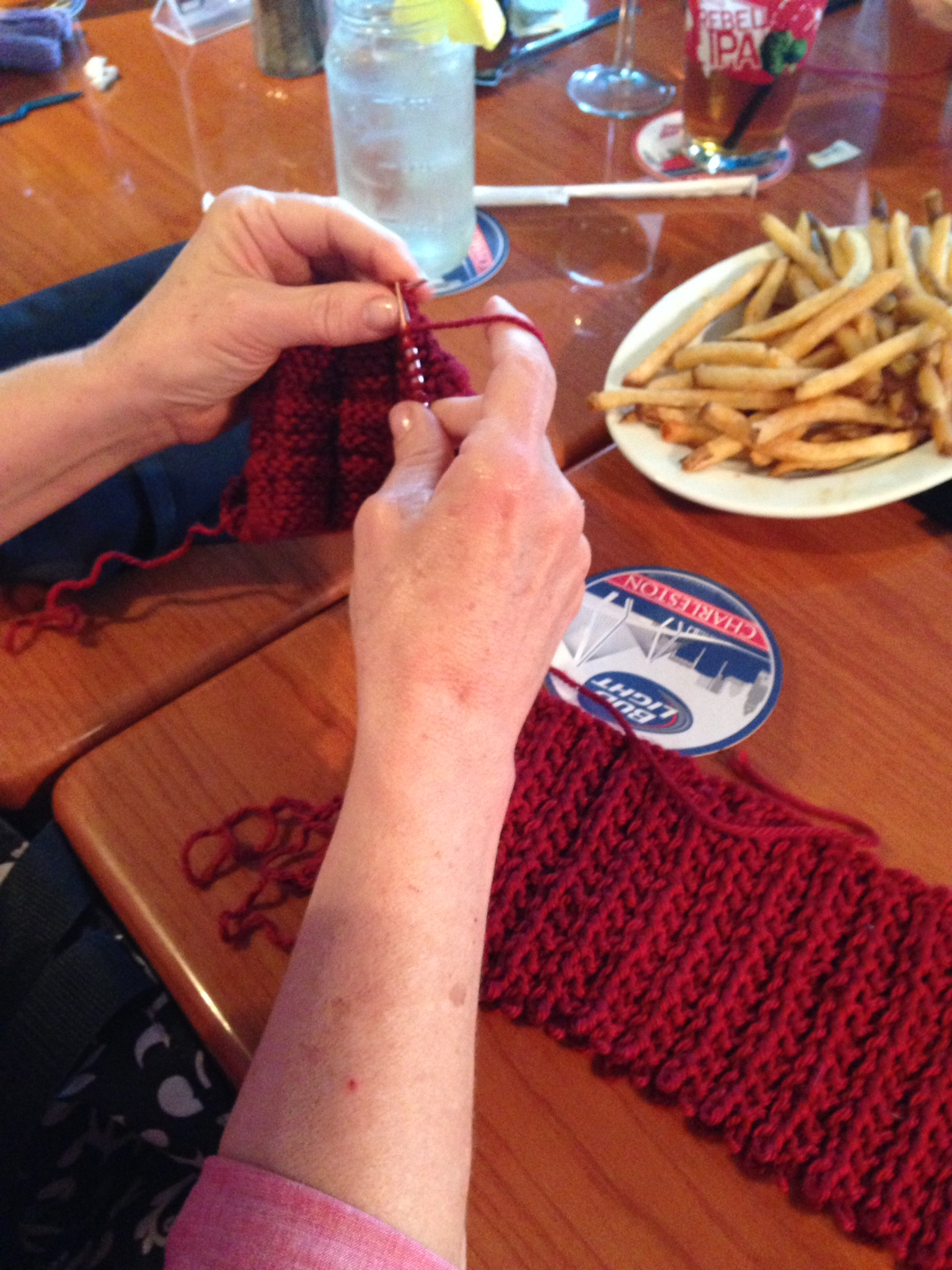 Want to unravel something and knit something new? Why waste time on making a new ball when you can just knit from the old piece!