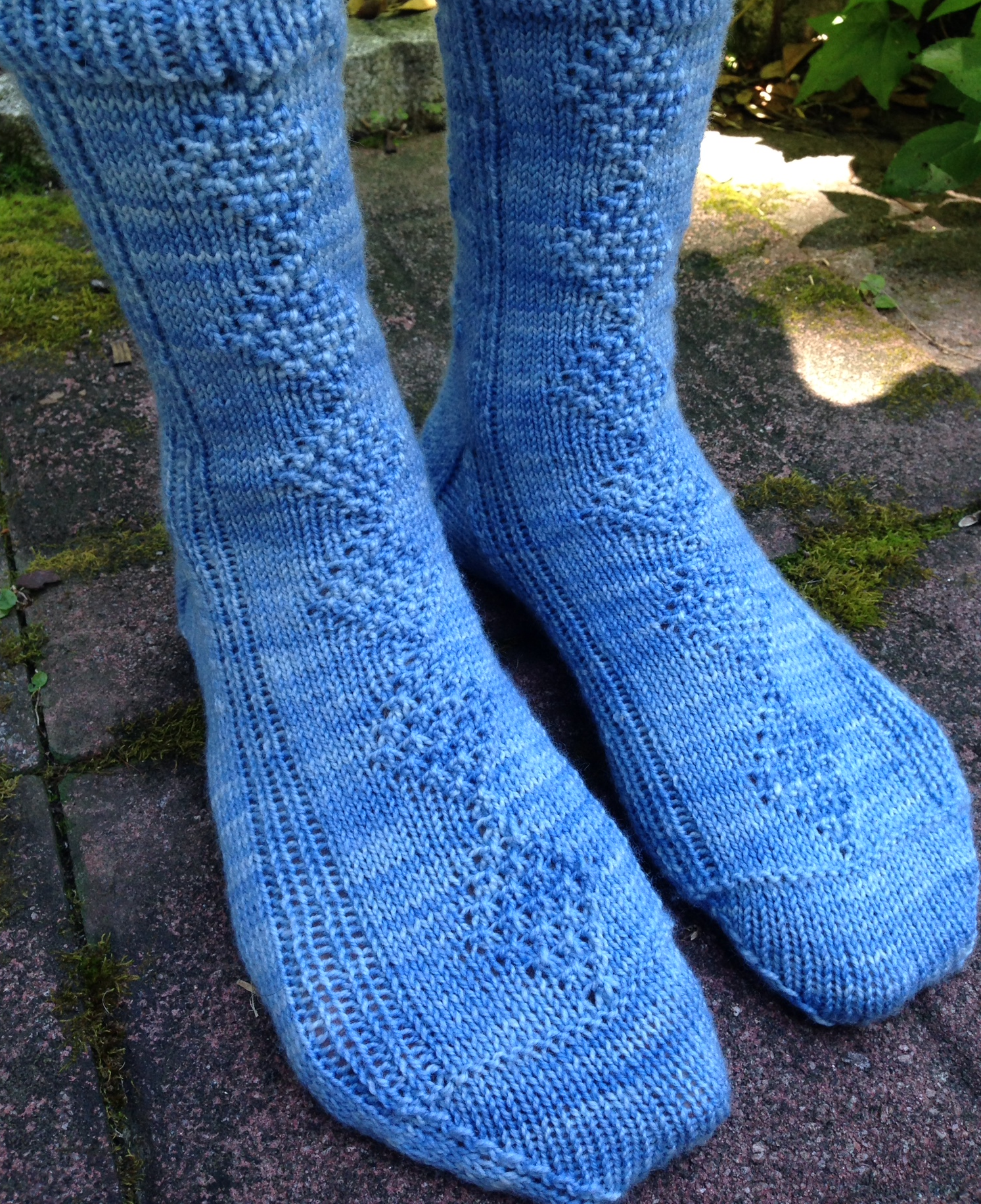 Diamond Ring(let) Socks, available on  Ravelry
