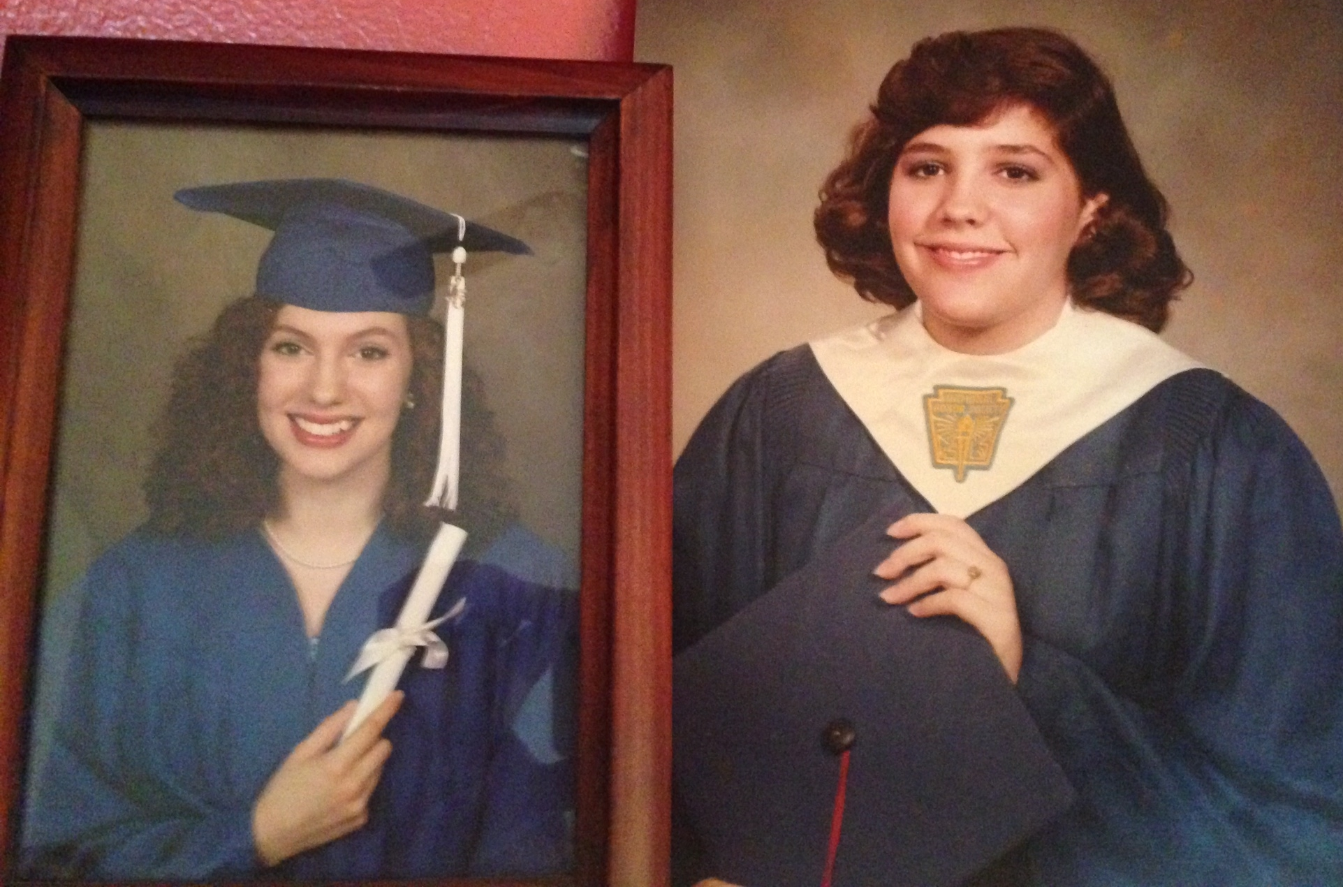 Two grad photos, 30 years apart. I wish I'd had half her poise, maturity and wisdom!