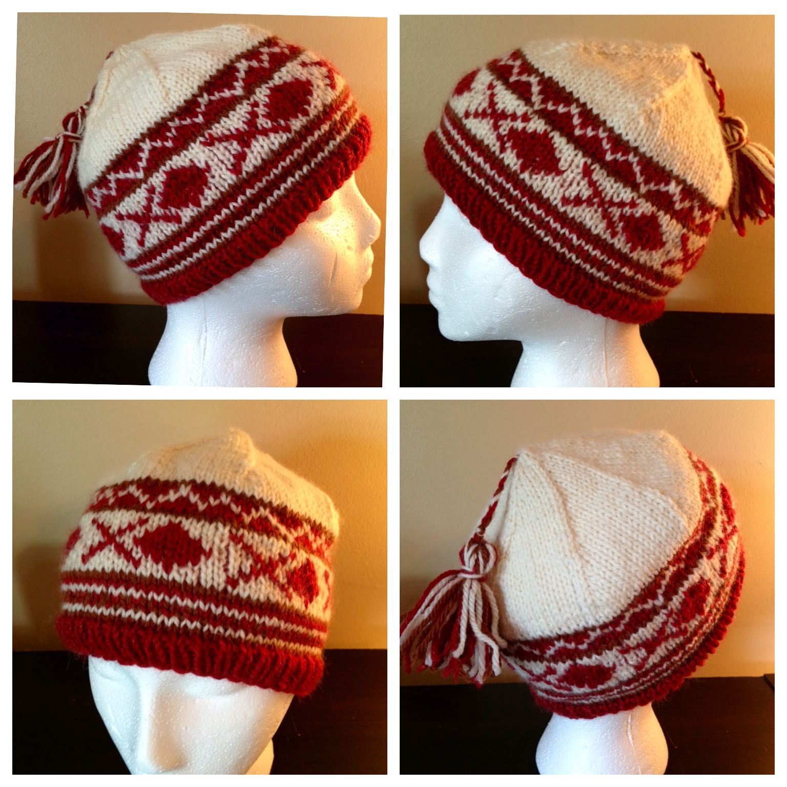 Mr. Deeds hat.  A pattern I designed to teach fabulous Fair Isle. Great beginner project!