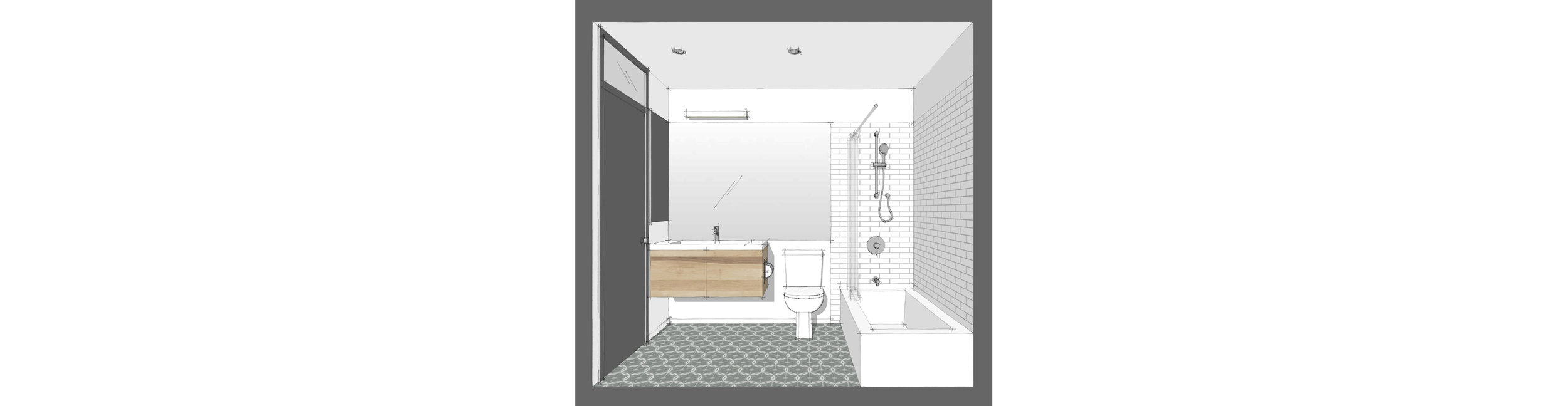 elevation - bathroom