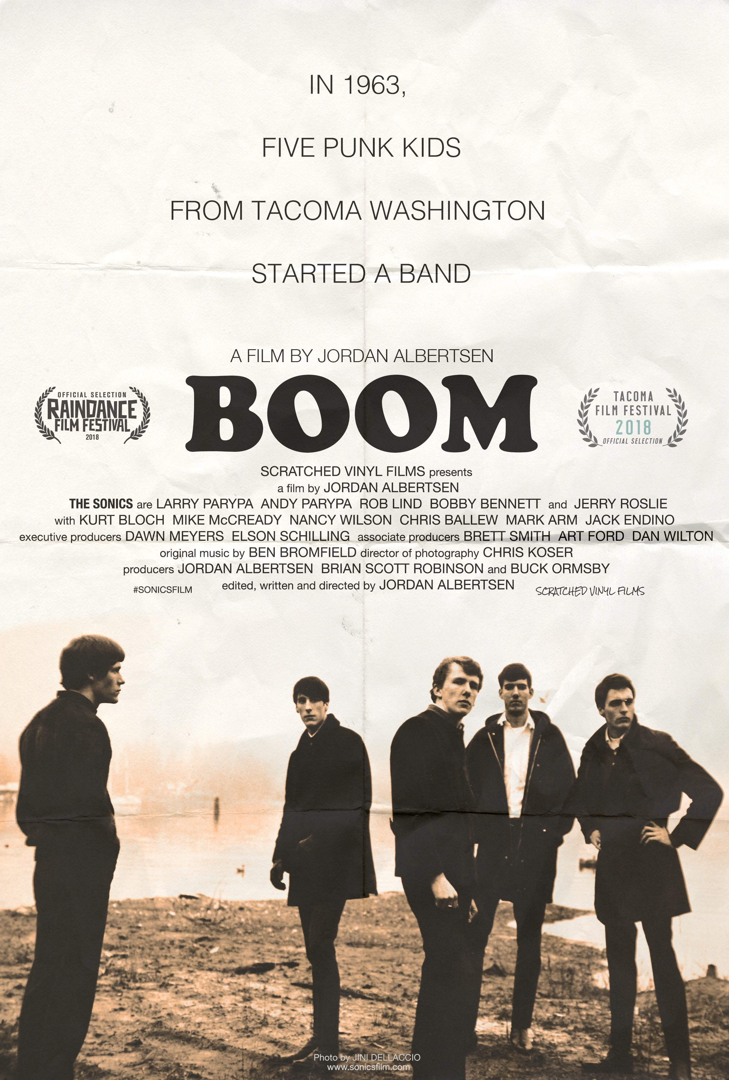 """Boom!"" - Feature Doc. - The untold story of one of rock 'n' roll's wildest and most influential bands, The Sonics. (prod.) Brian Robinson - (dir.) Jordan Alberston - Sound Design & Audio Post Production by Jack Goodman."