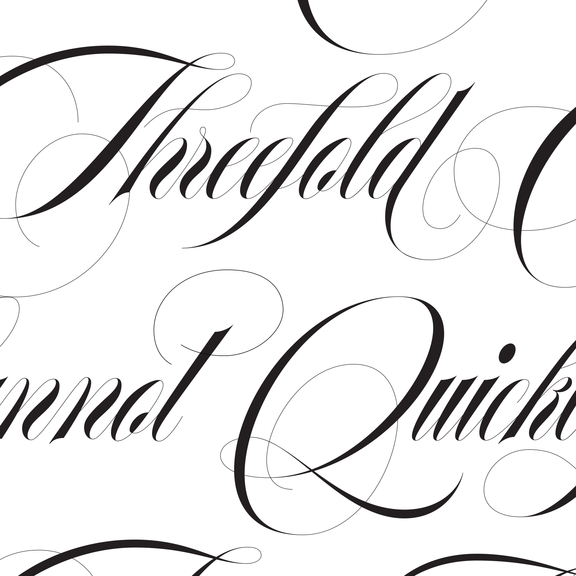 Threefold Lettering