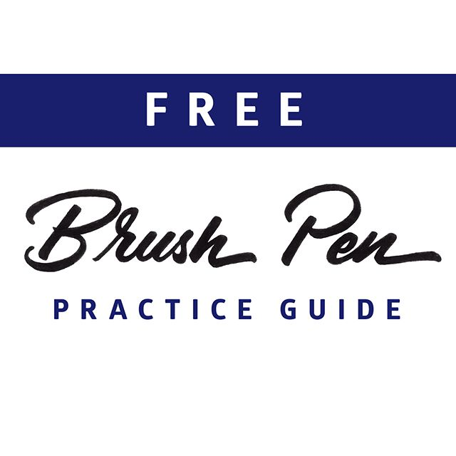 IT'S HERE!!!! The Free Brush Pen Practice Guide it's finally available for you to download.