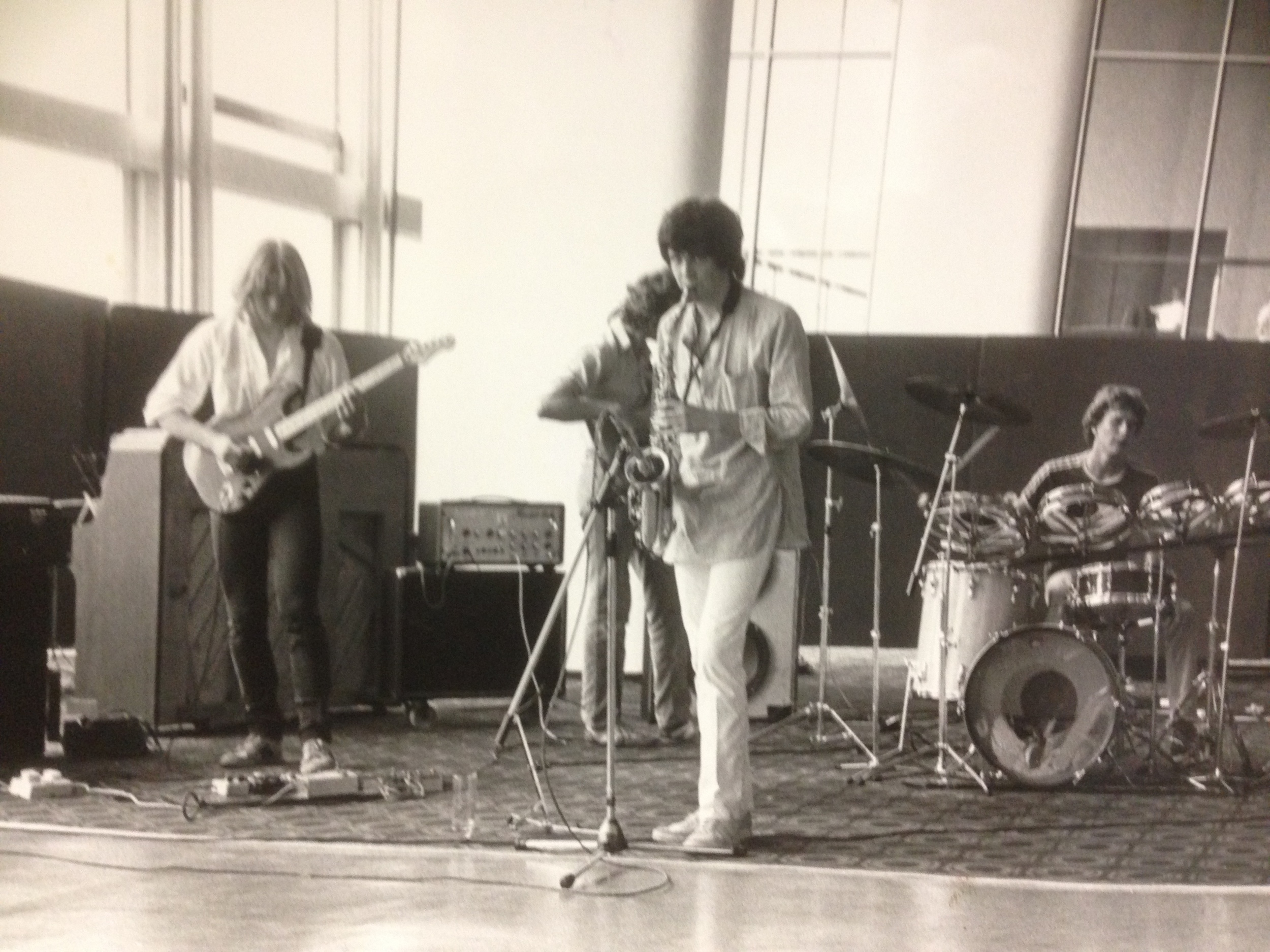 Actual Proof, RFH 1983. Shaun Thompson -sax, Paul Stipetic - drums, Tony Stipetic - Bass, Cliff Brown - guitar