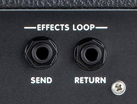 A typical basic FX loop on a guitar amplifier