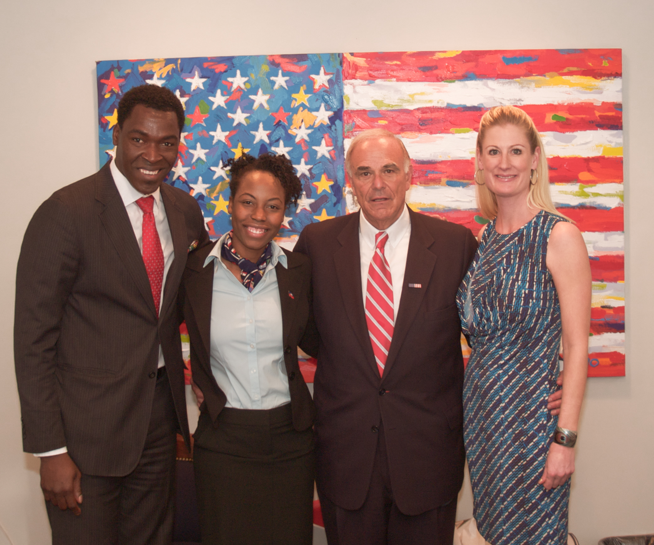 Ulysse Toussaint, Junie J. Holland, Gov. Ed Rendell & Chief of Staff, Dr. Kirstin Snow In Philadelphia Office in Februrary 2010