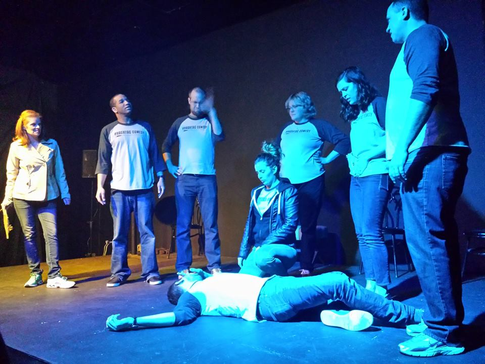 hashtag comedy improv comedy improvised murder mystery show