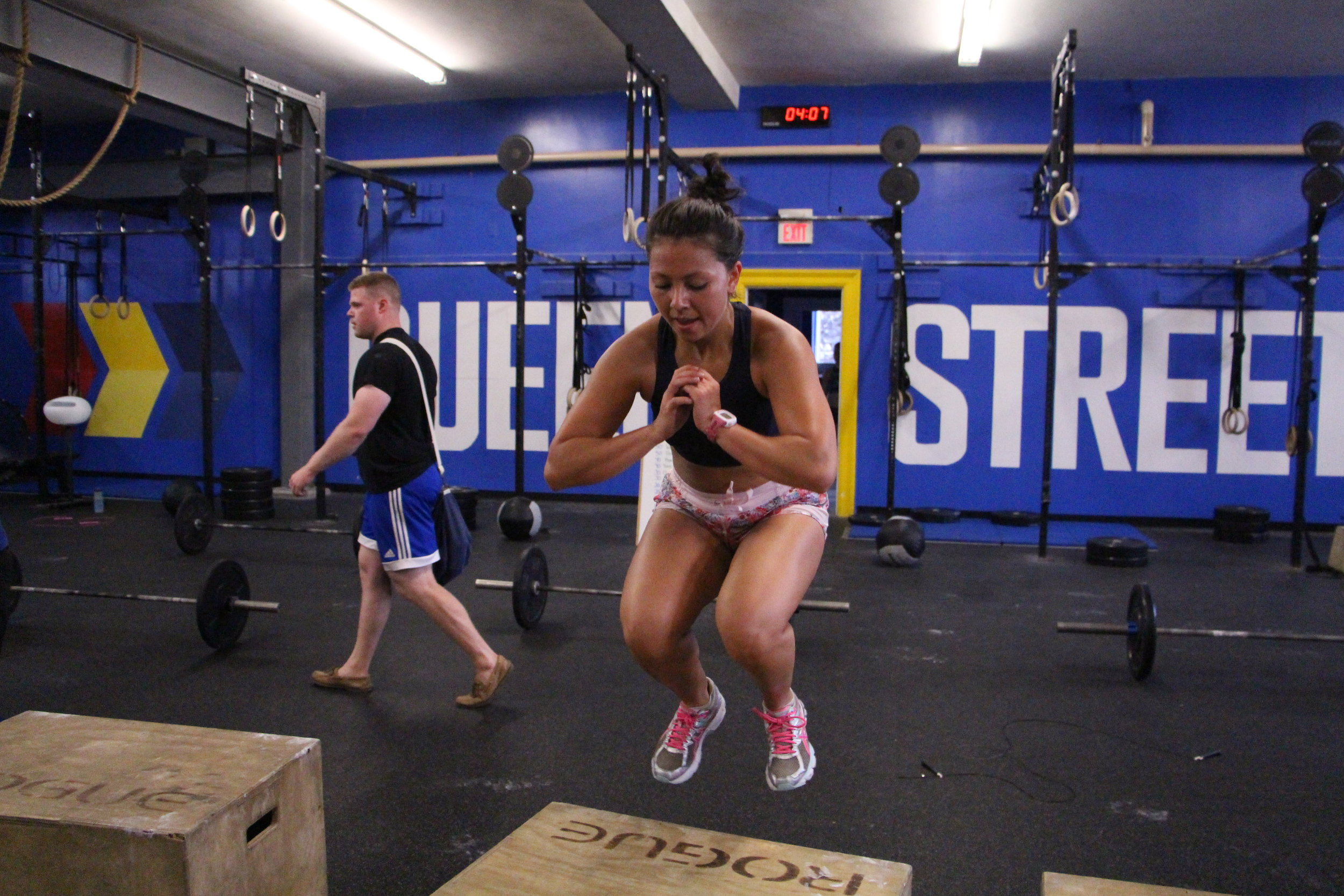 box jumps  Scale box height  Step-ups  Weight set-ups with dumbbells - lower the height of the box