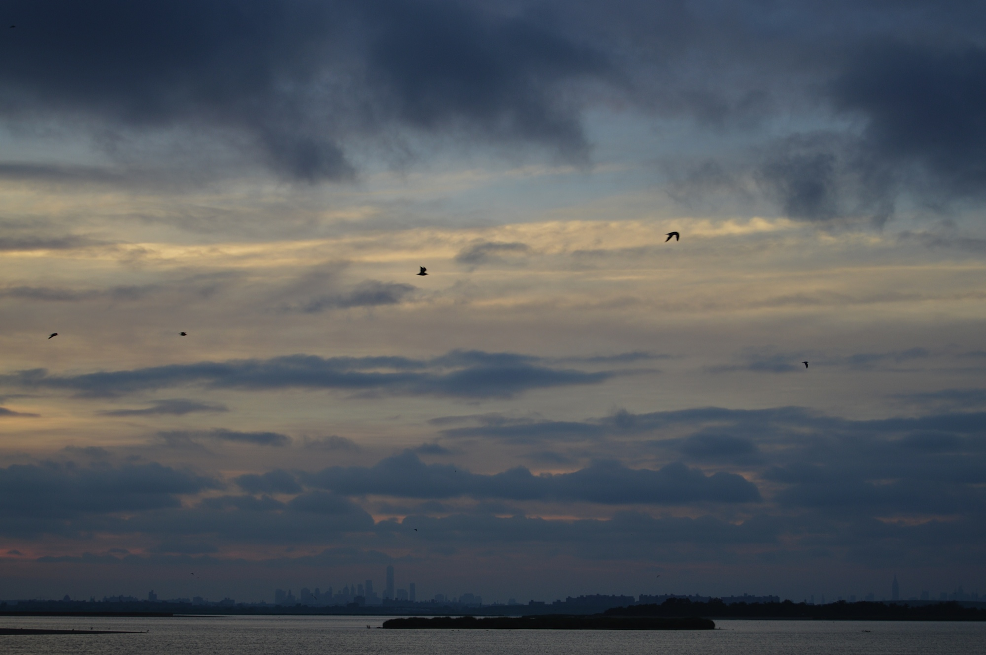 Manhattan Skyline from Broad Channel 7-2014.JPG