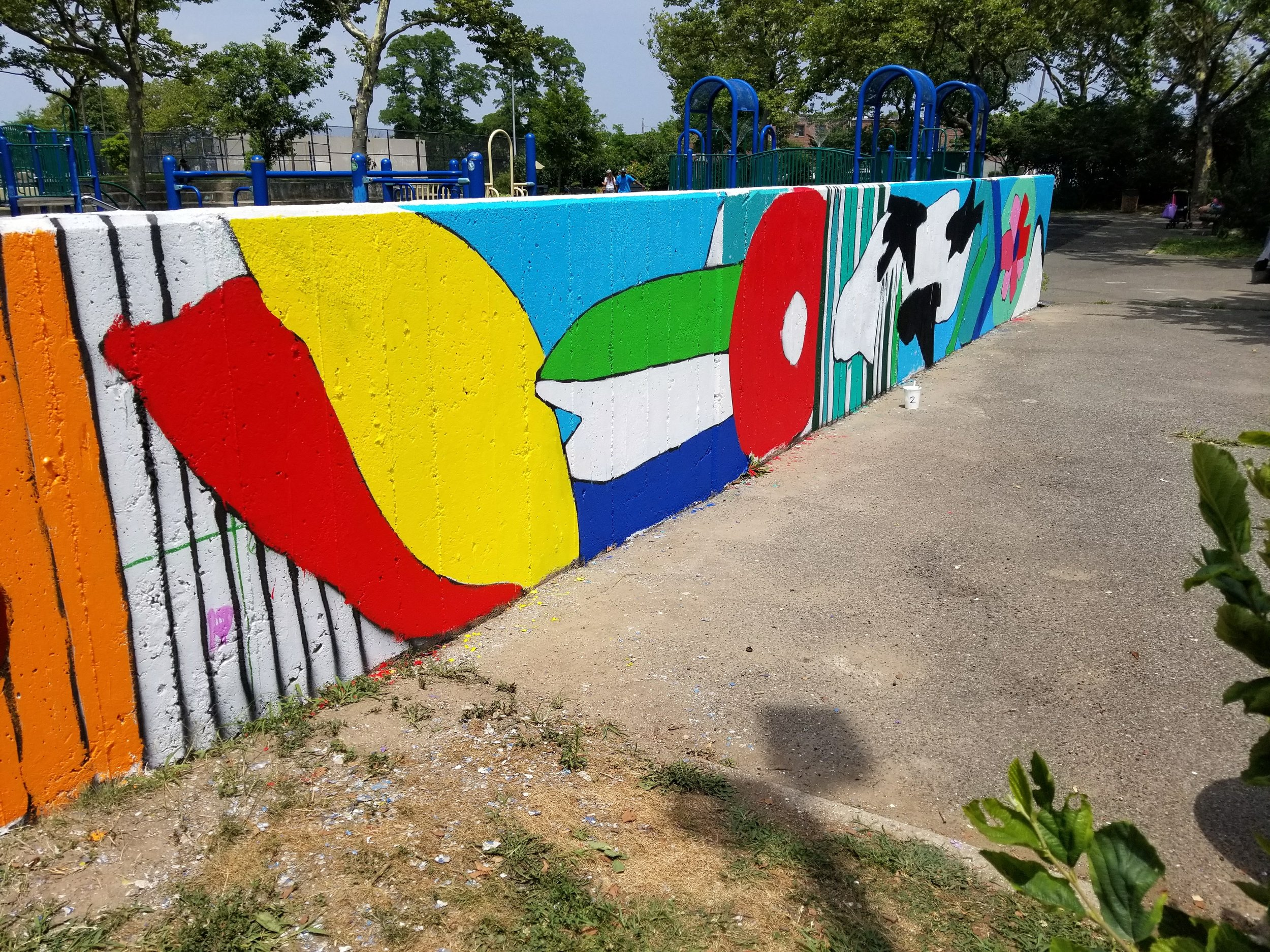 Newly installed mural -