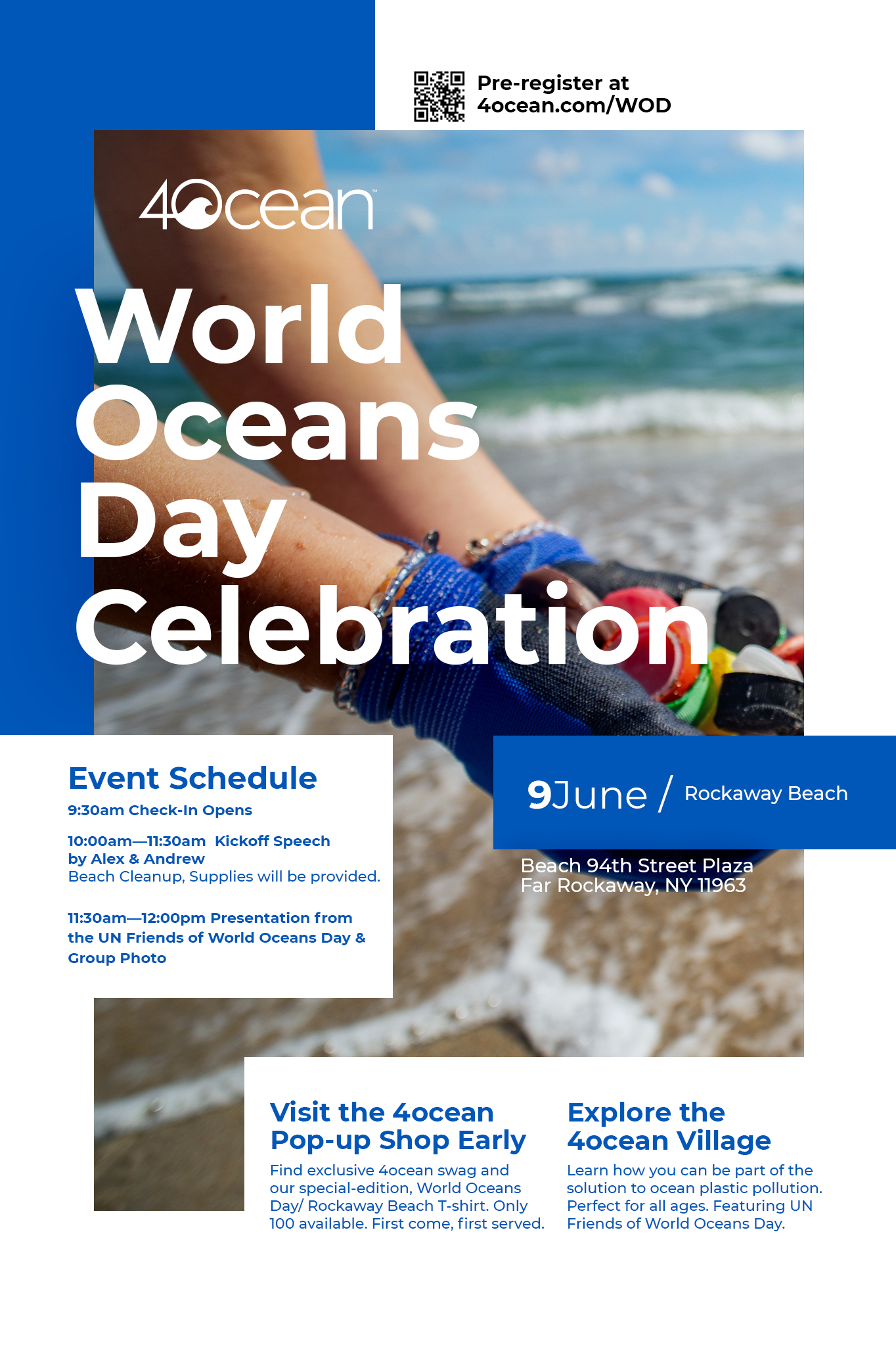 Volunteer for a Rockaway Beach Cleanup on World Oceans Day with