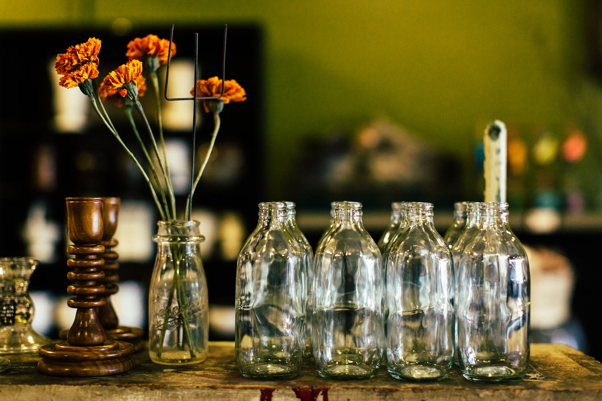Charming vintage vases. Perfect for those few lone flowers.