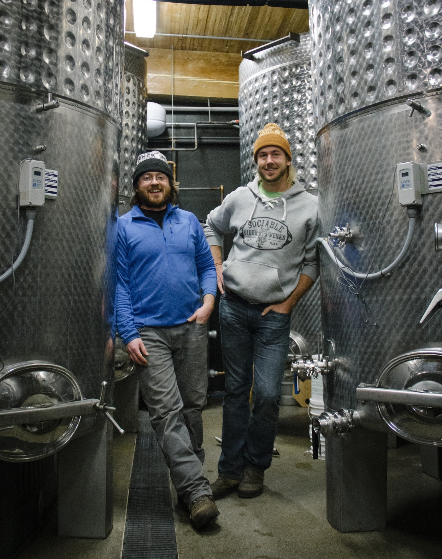 Sociable Cider Werks proprietors - Wade Thompson and  Jim Watkins