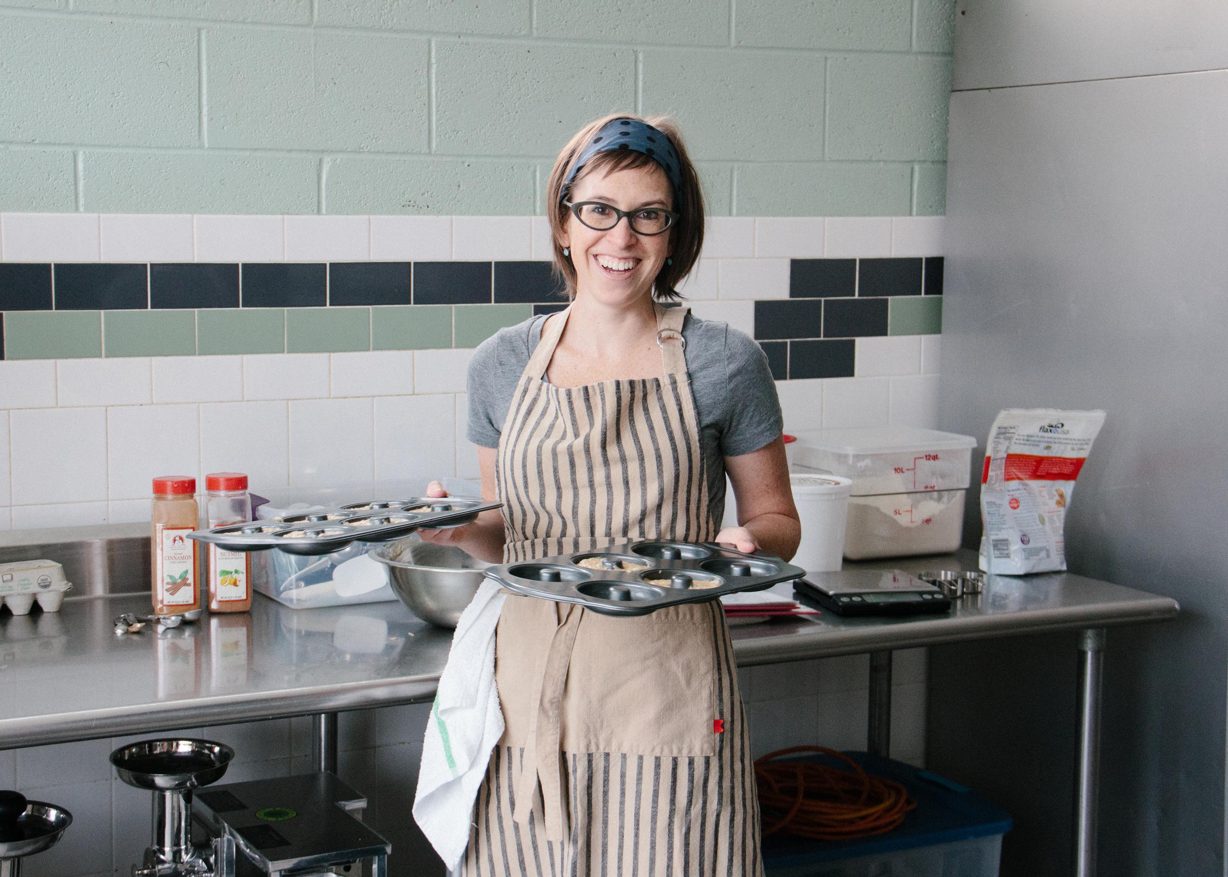 M olly Miller, owner and full-time baker of Sift Gluten Free Bakery.