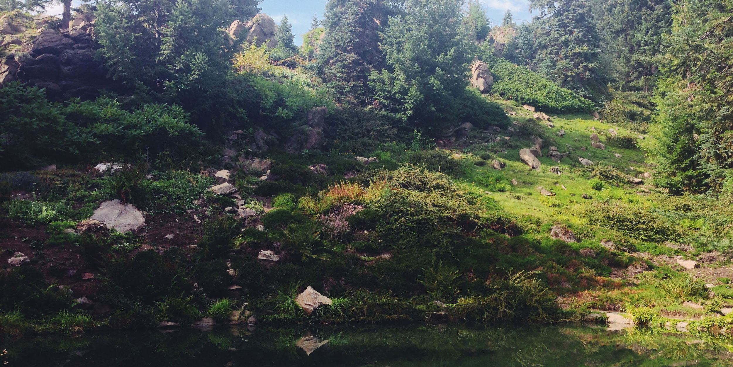 Ohme Gardens  , now owned and operated by Chelan County is a lush alpine garden, a favorite spot for local weddings and is full of shady paths by quiet waters.