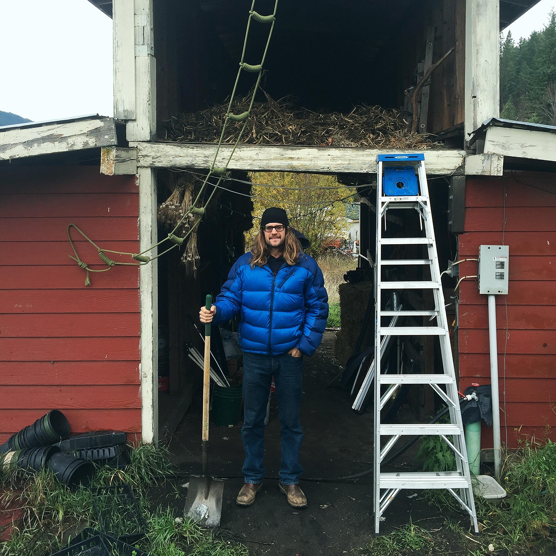 farmer-in-residence Chris Petry, Leavenworth, WA