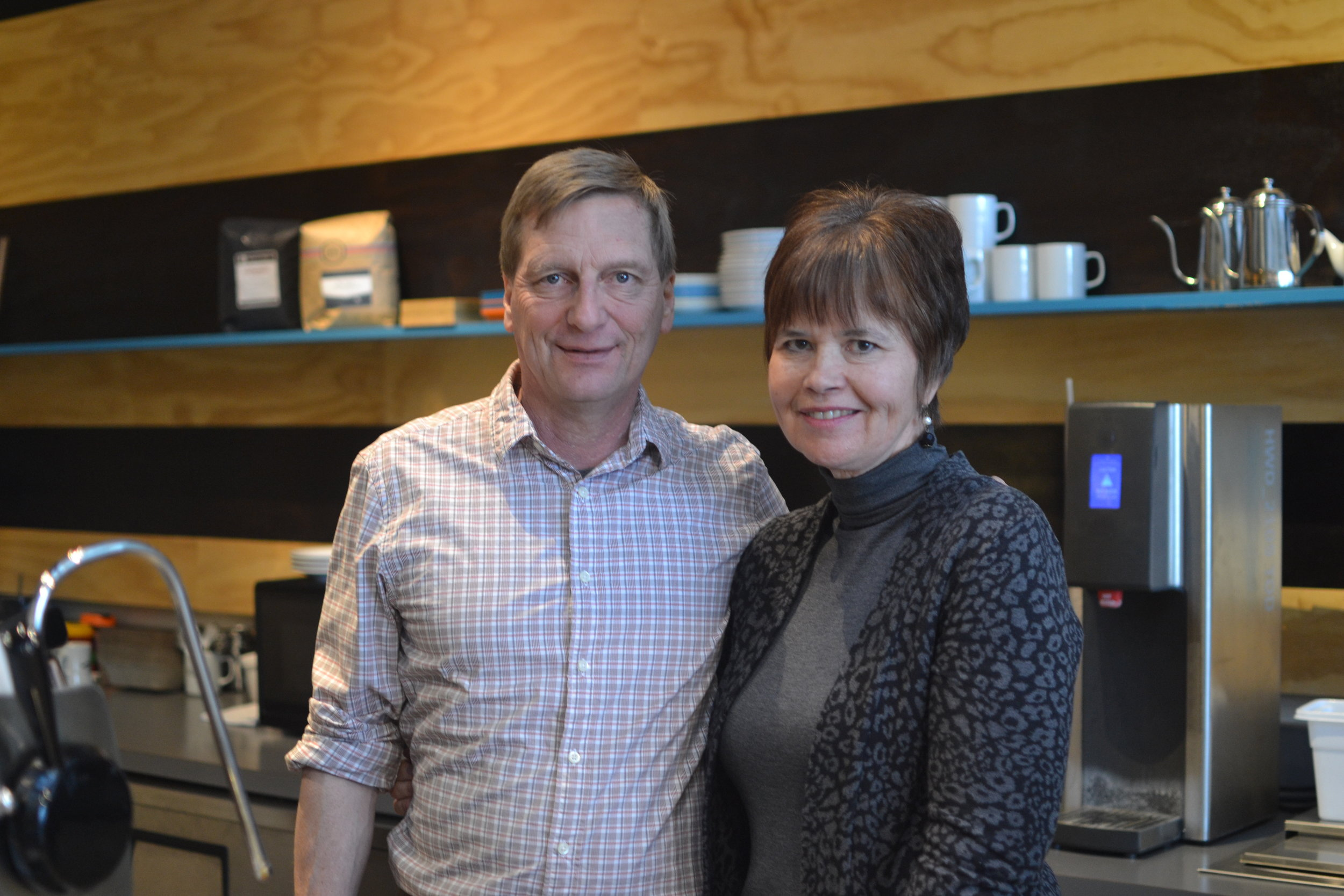 Mike and Deb Nelson of  Revel77 Coffee  in Spokane