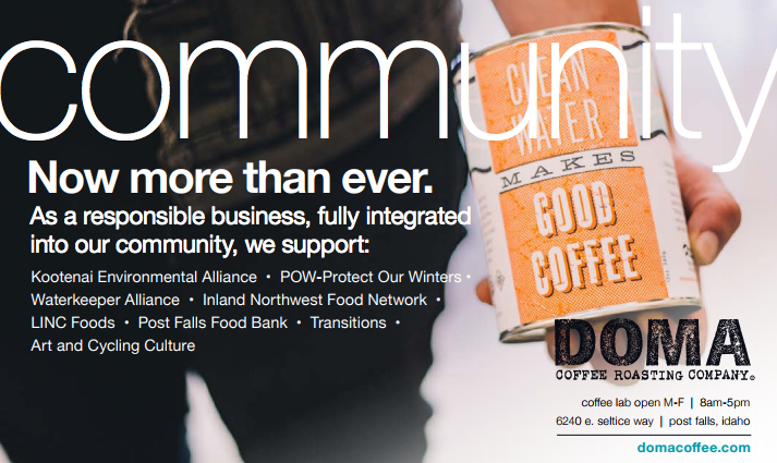 DOMA + Responsibility - The more you spend time with Rebecca Hurlen Patano of DOMA Coffee Roasting Co., the more you realize how multi-faceted her company is when it comes to responsible practices, partnerships, and donations. Simply put: they care, and they act on it. [Learn more here].