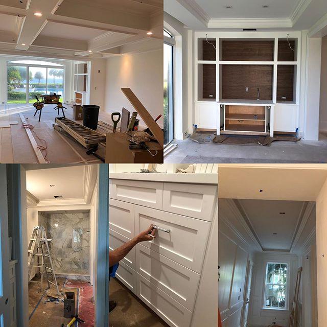 All hands on deck finishing this Johns Island condominium renovation just in time for season #johnsislandrealestate #johnsisland #dellaportaconstruction #verobeachrealestate #verobeach