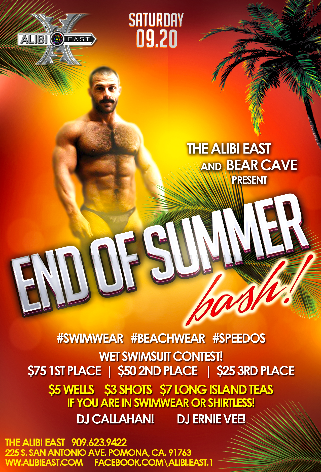 It's gonna be a great night tonight! Come join the fun! Wear your sexy swim or beach wear to enter the contest! Cheers!