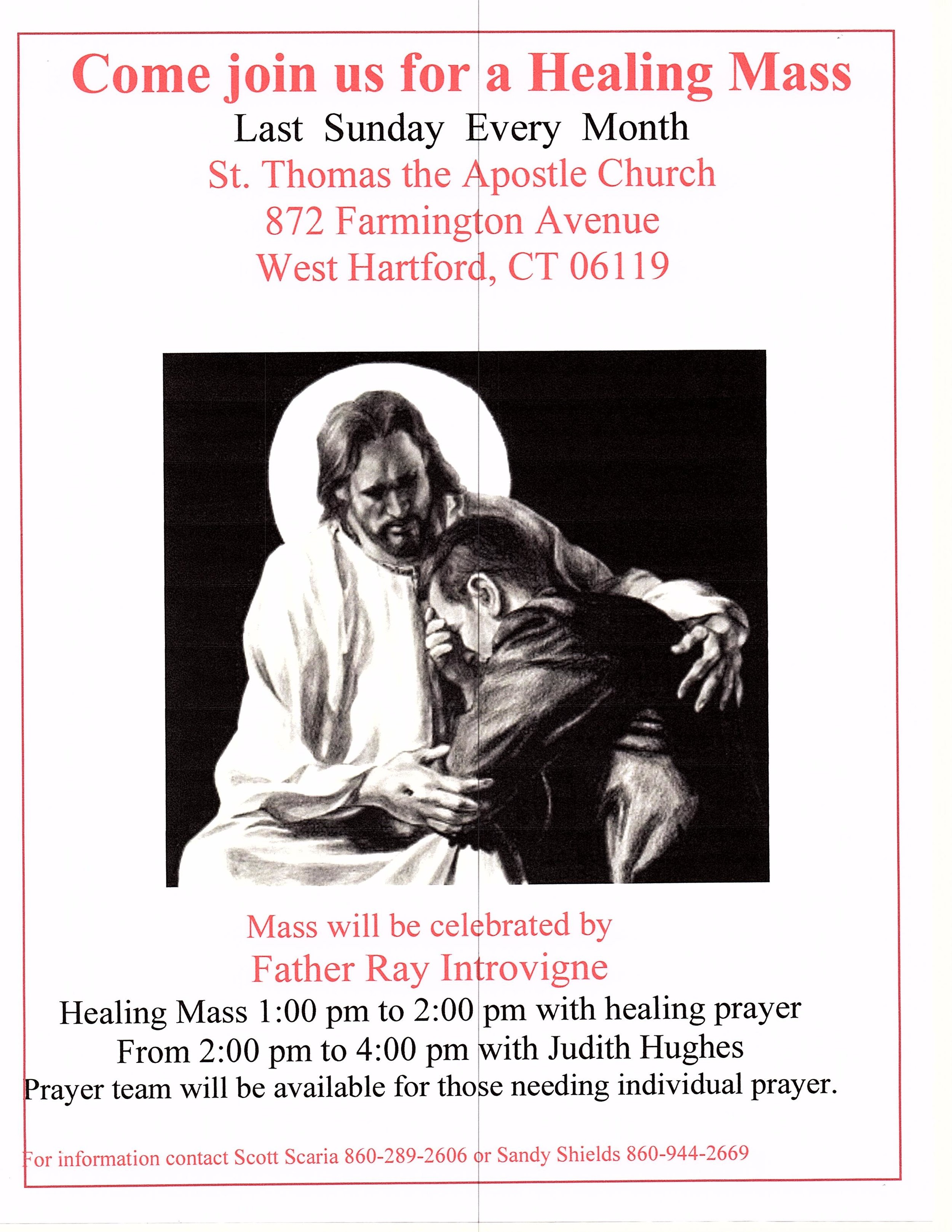 Healing Mass & Healing Prayer — St  Thomas the Apostle
