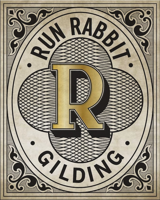 run rabbit gilding stamp