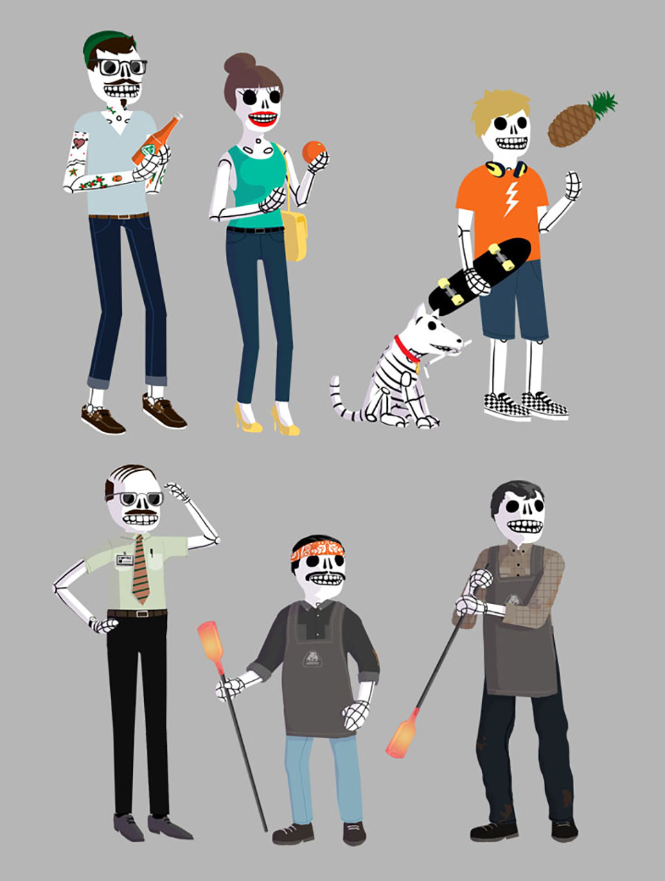 Jarritos Character Designs