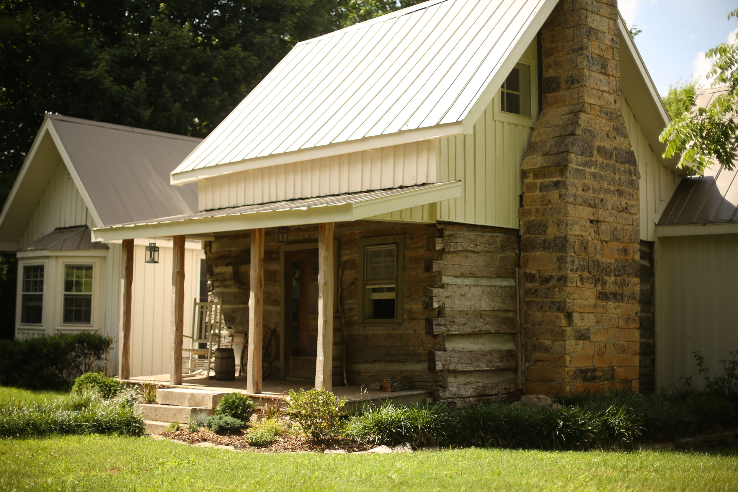 The log portion of this home is the oldest structure still standing on the farm.
