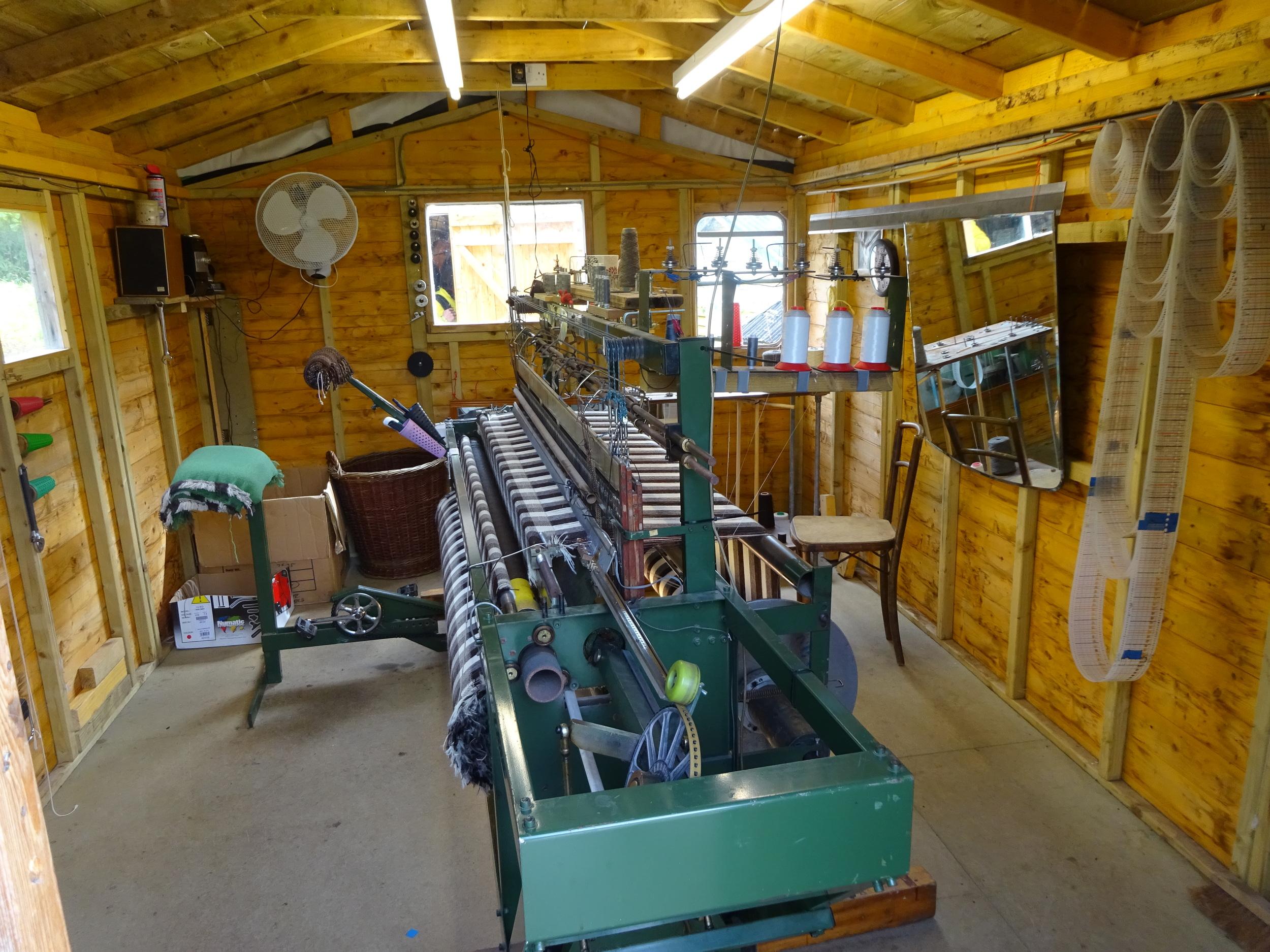 Inside Skye Weavers loom room