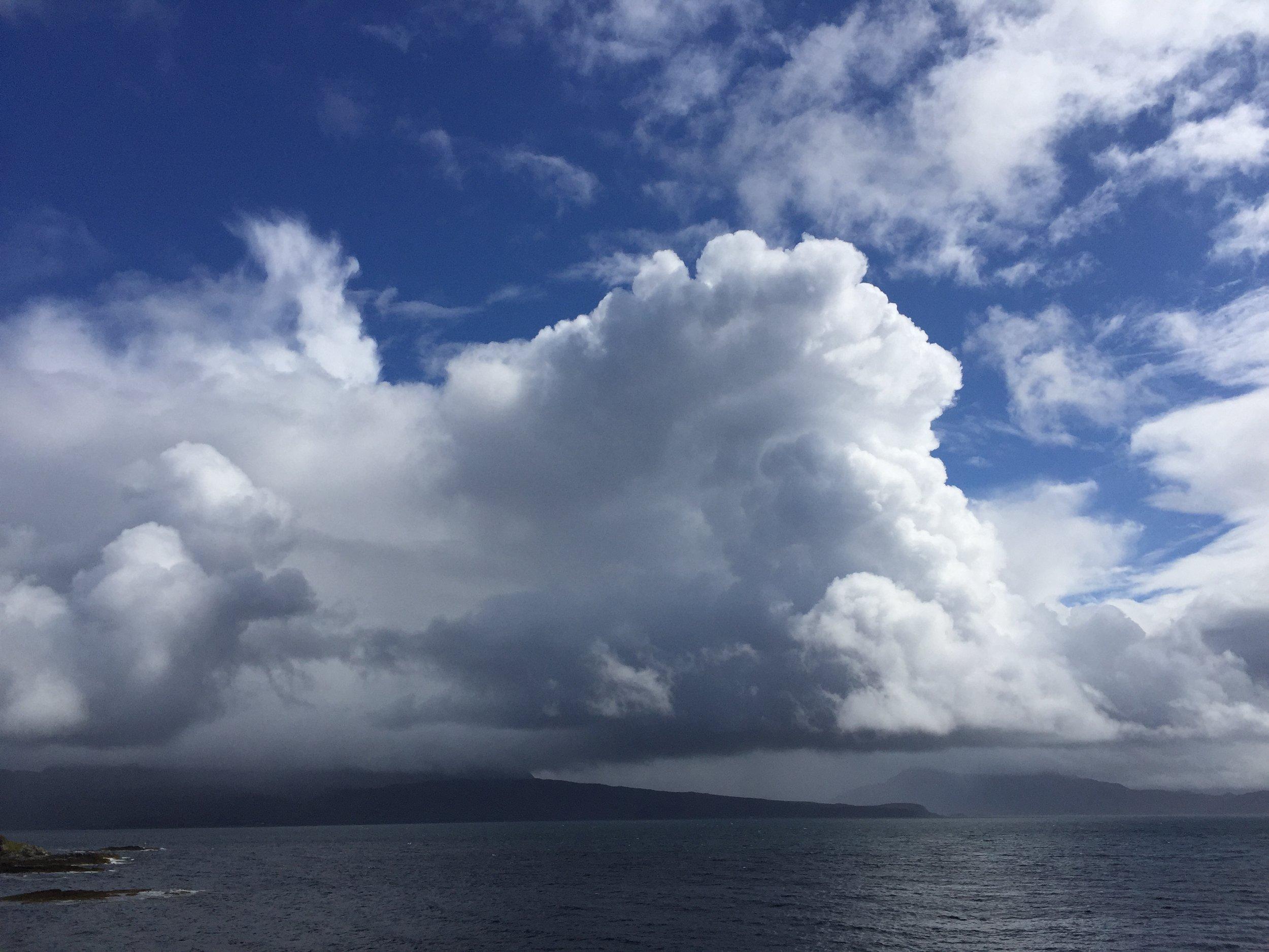 Skye - stormy summer sky...