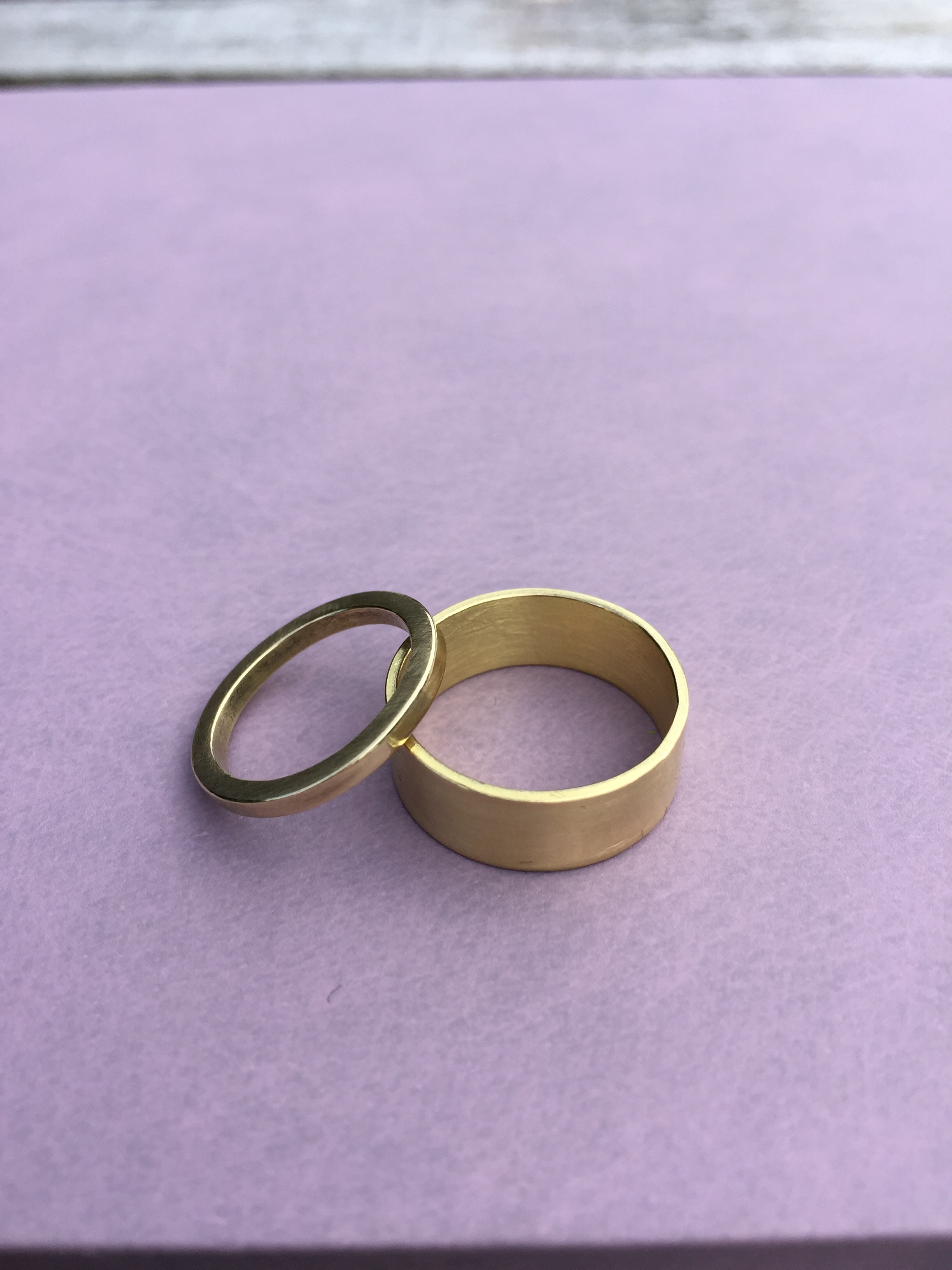 Daniel and Marianne - Two 18ct yellow gold ring
