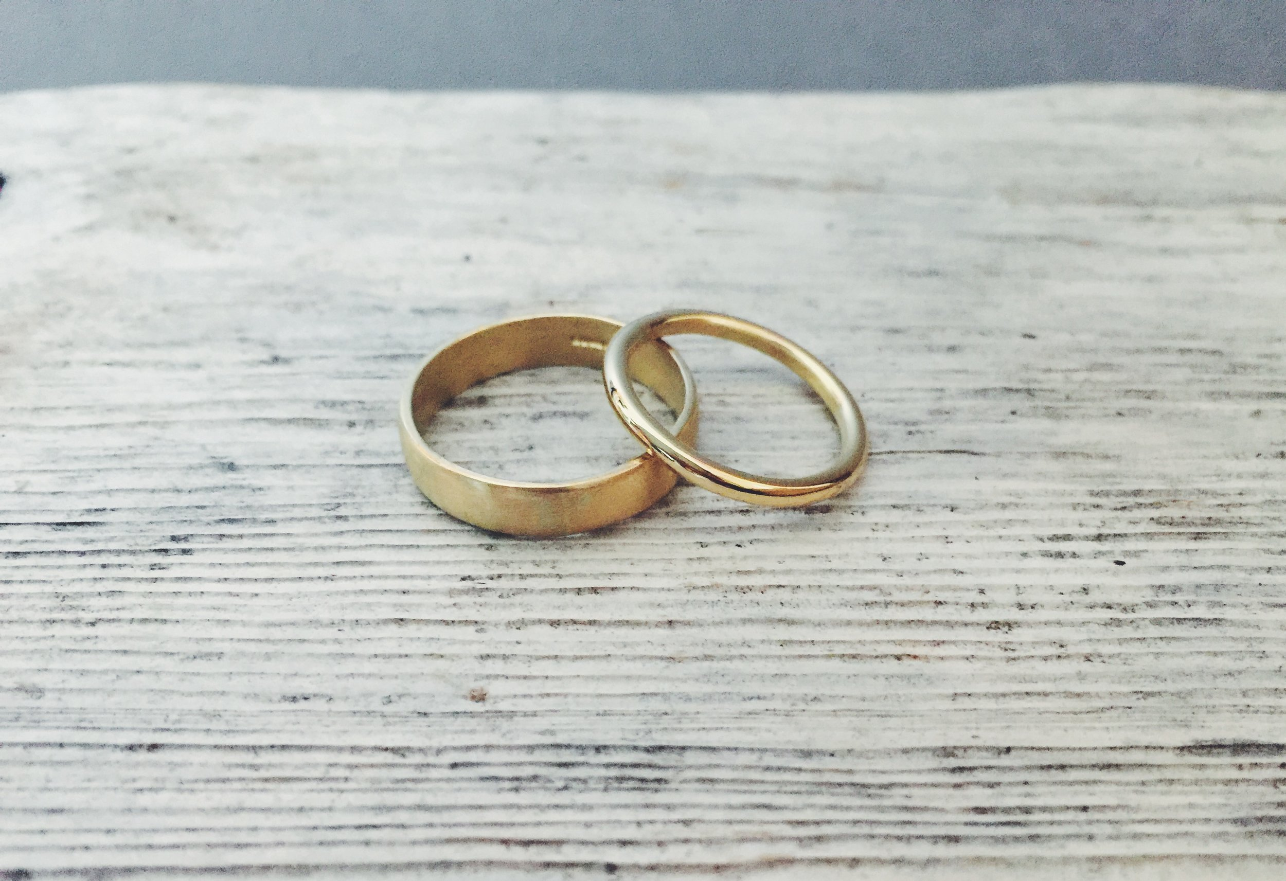 Laura and Mark - 18ct yellow gold rings