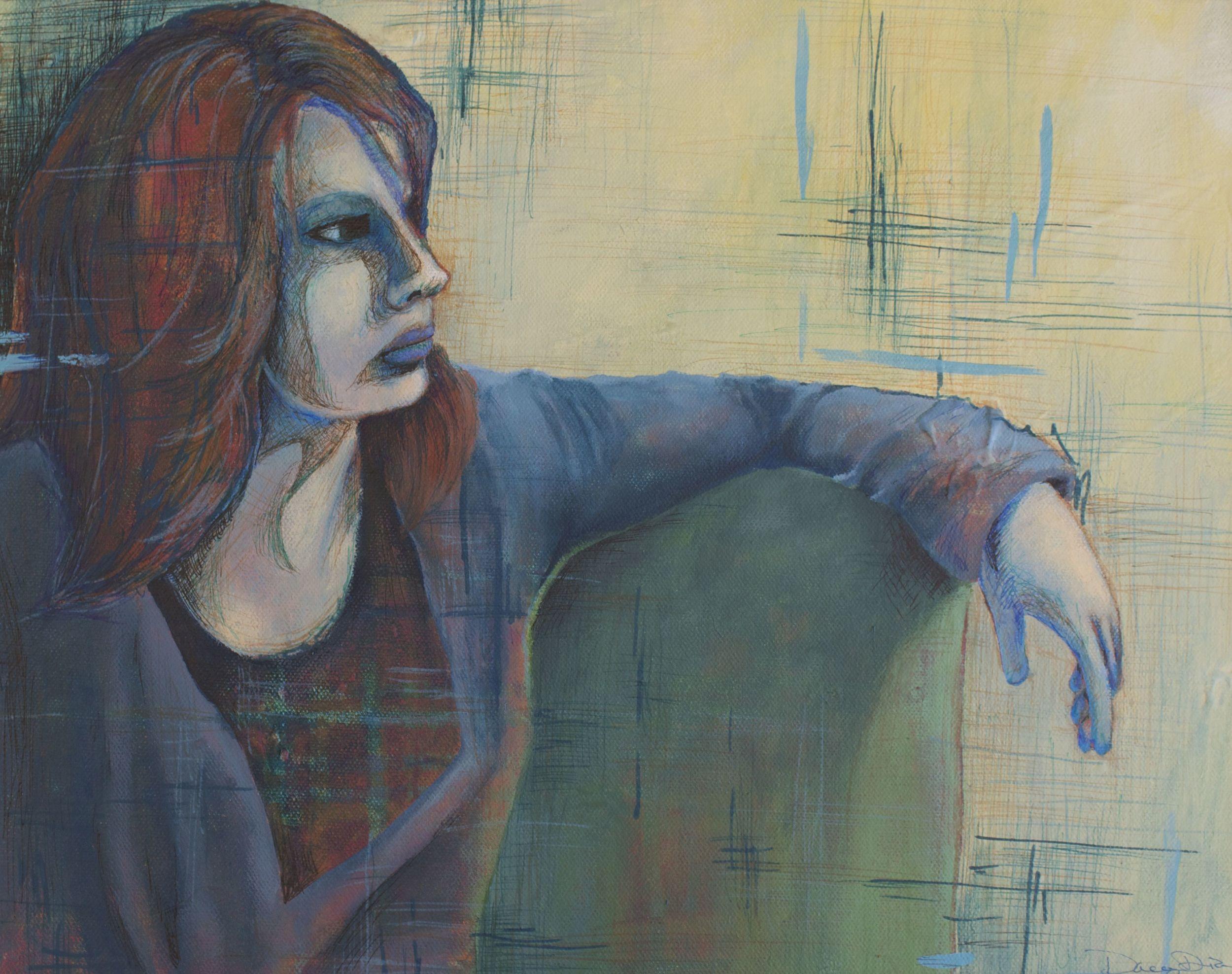 Layered Beauty #2  14x11  Mixed Media  by Dacey Dia Villarreal