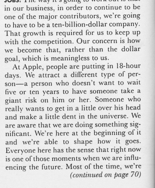 Steve Jobs Dent In Universe Playboy