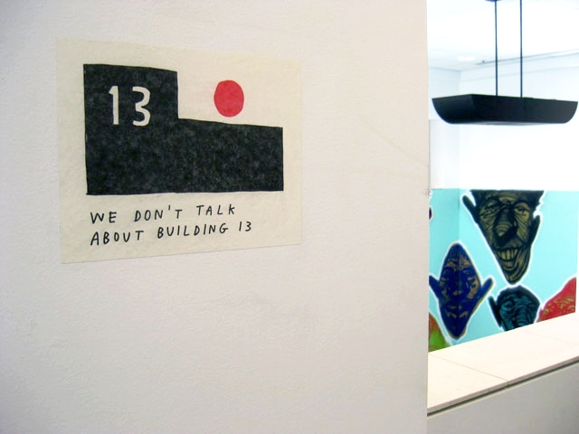 Site-specific artwork details: Facebook's Artist in Residence Program featuring works by Tucker Nichols