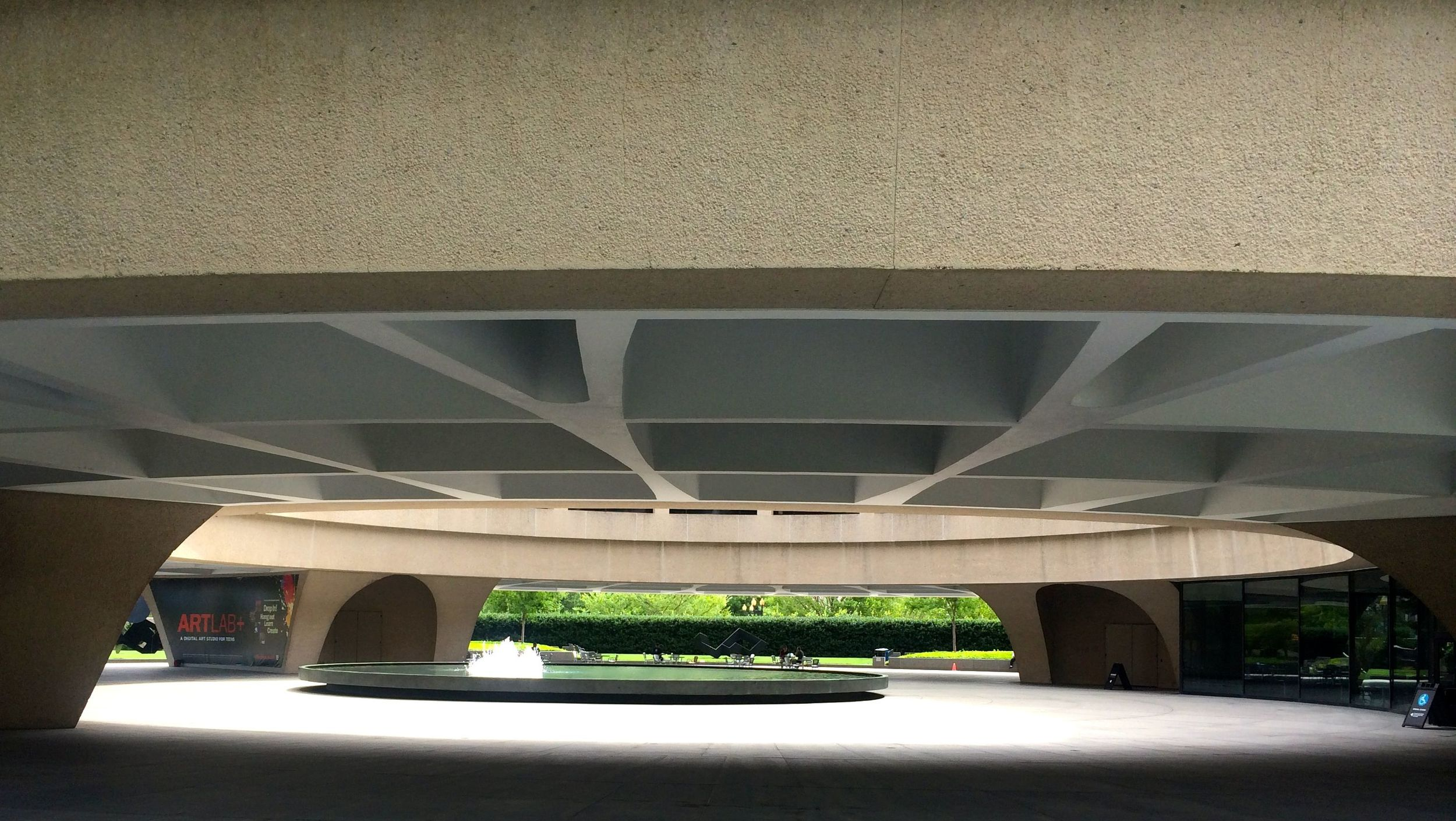 The Under Belly of the Hirshhorn.
