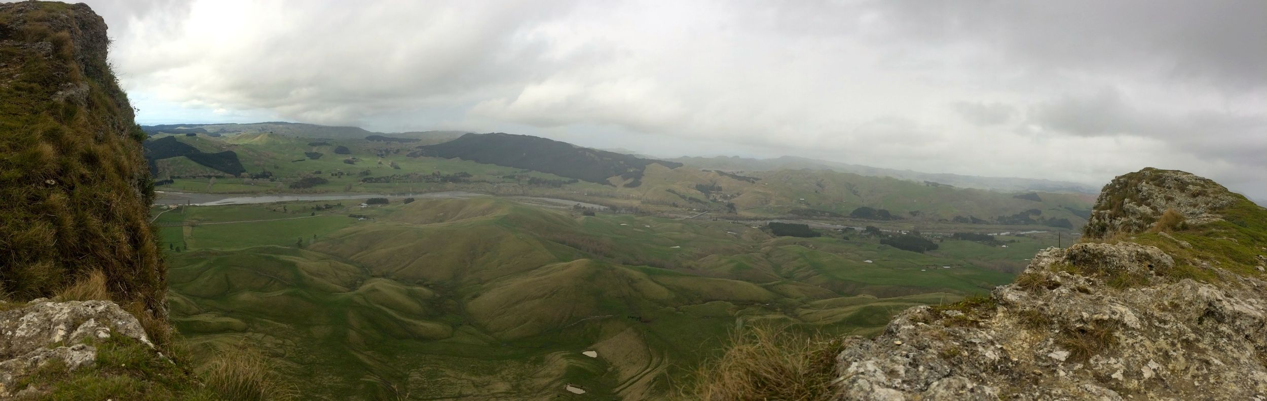 Te Mata peak. Looking down on Craggy Range winery. SUPER steep.