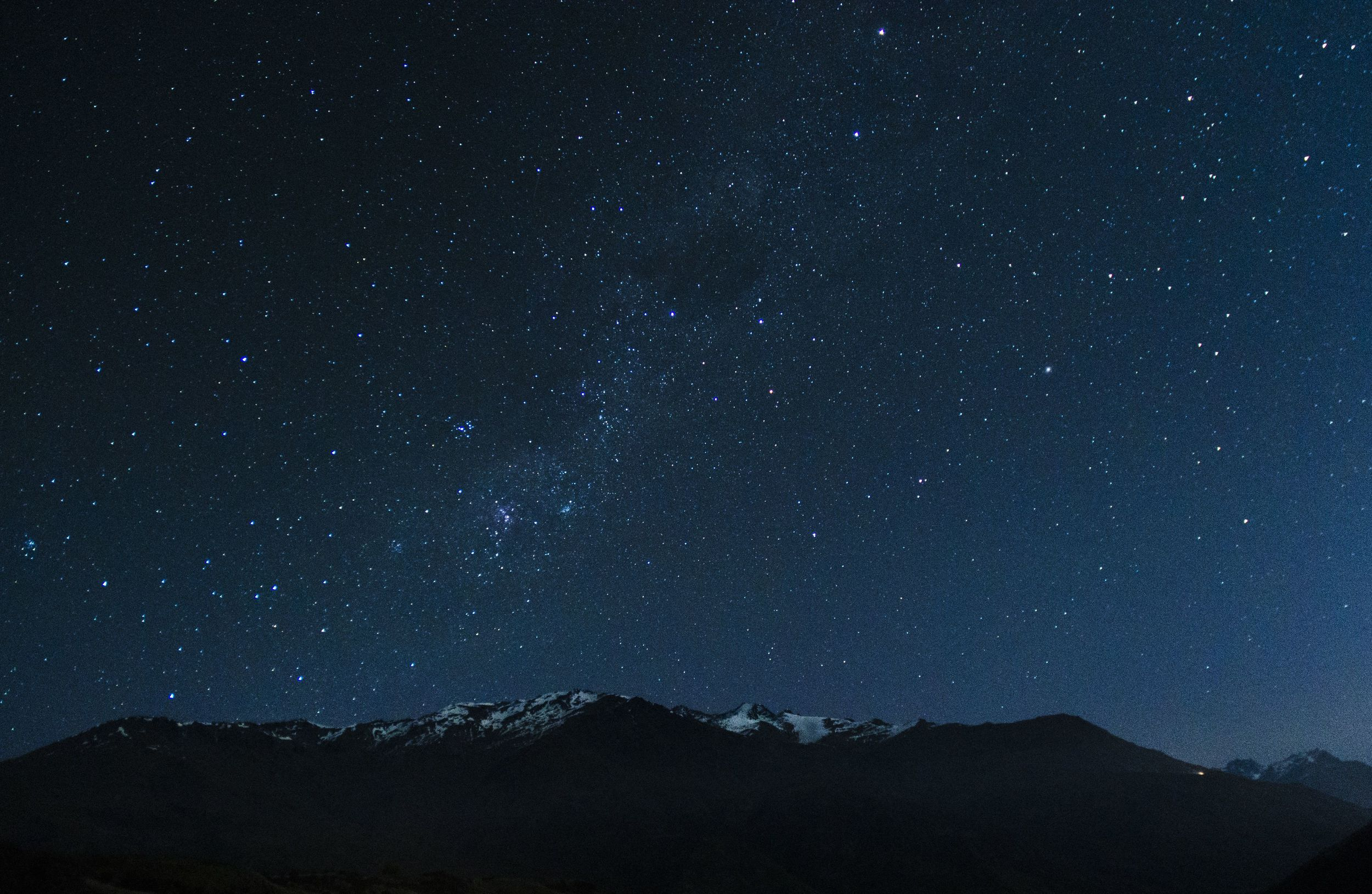 Andrew took this picture of the milky way over the Remarkables Mountains, pretty remarkable.
