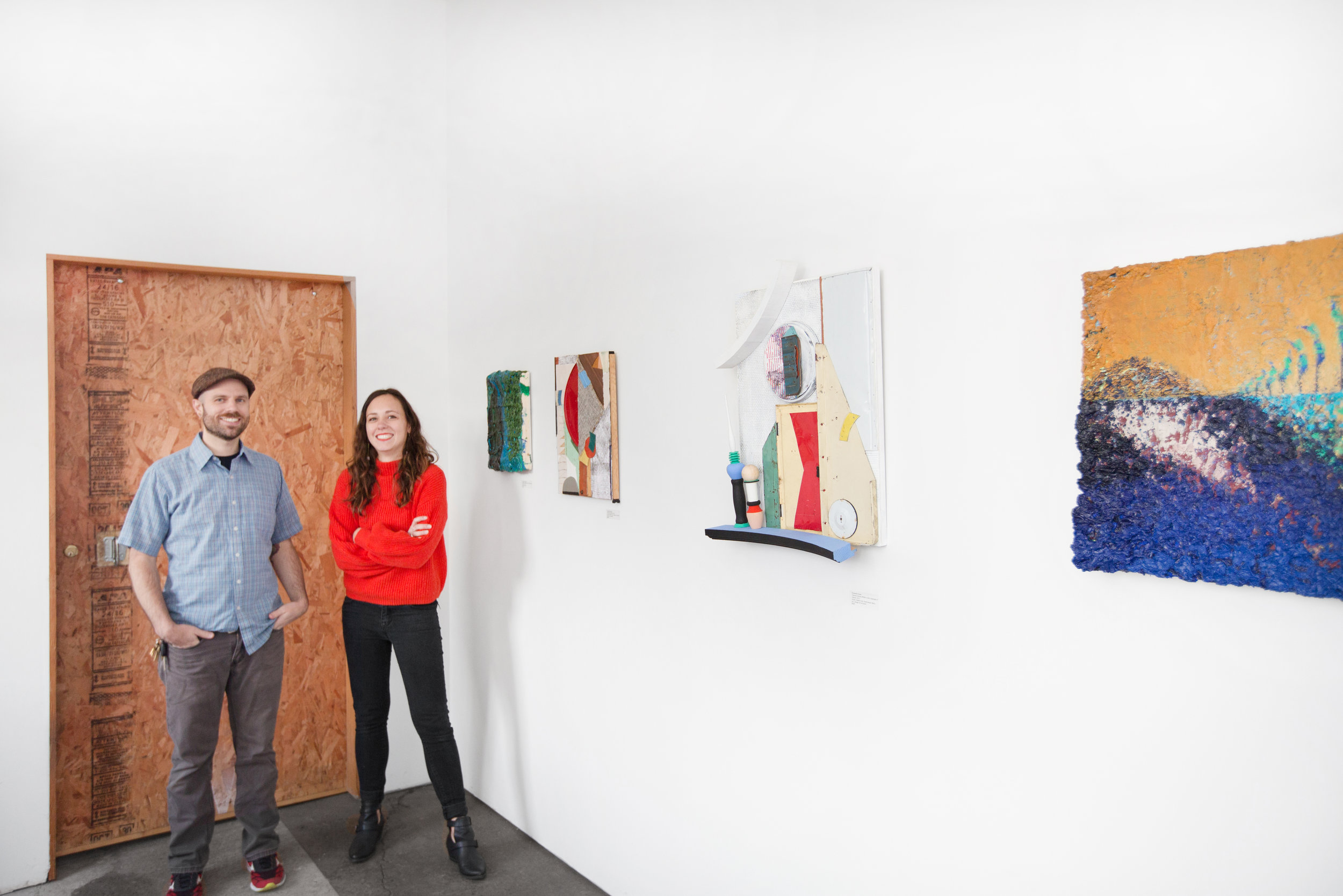 Joshua Thompson and yours truly at Plank Gallery (photo by Raphael Soldi)