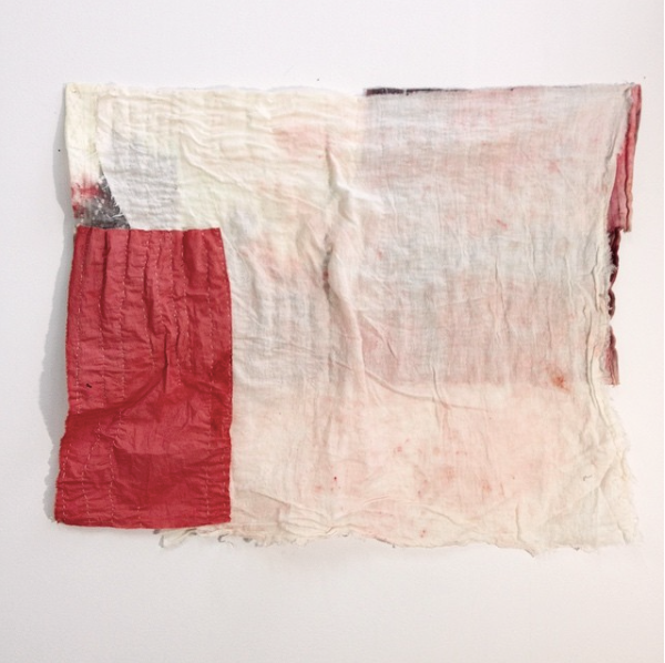 Annieo Klaas    Memory Cloth No.6,  2016  Oil and Ink on Cloth Scraps