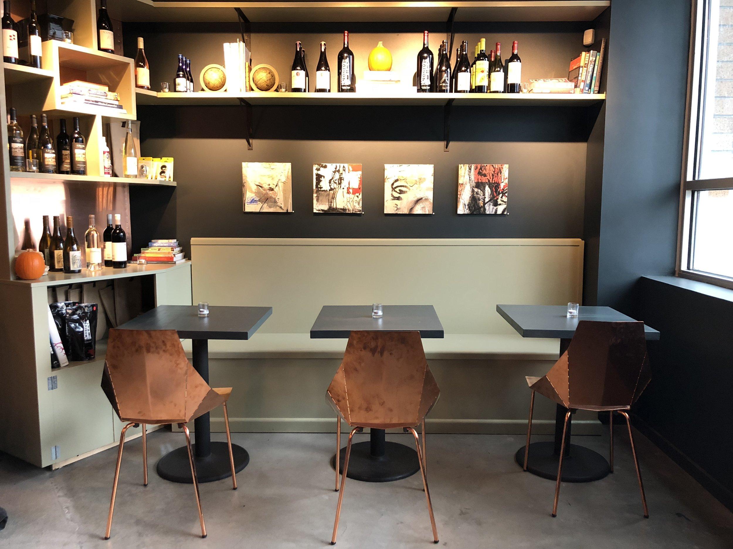 Installation view of Footprint Wine & Tap, Seattle, WA