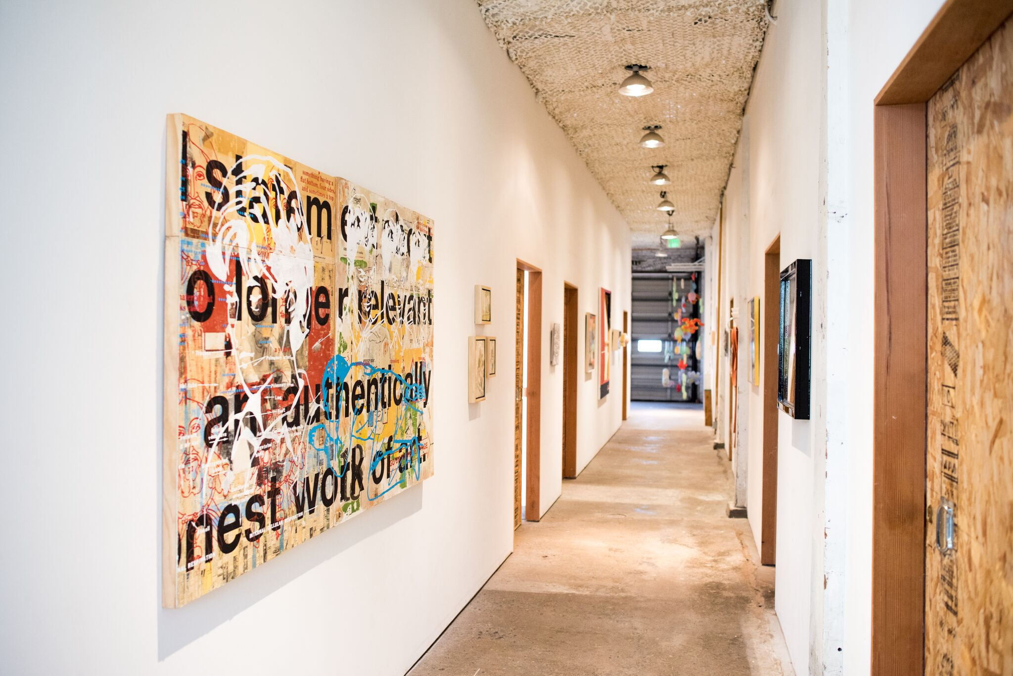 "Hallway installation featuring Andrew Wakefield, ""Existence 11-15"","" 2018, image courtesy of Alex Connelly"