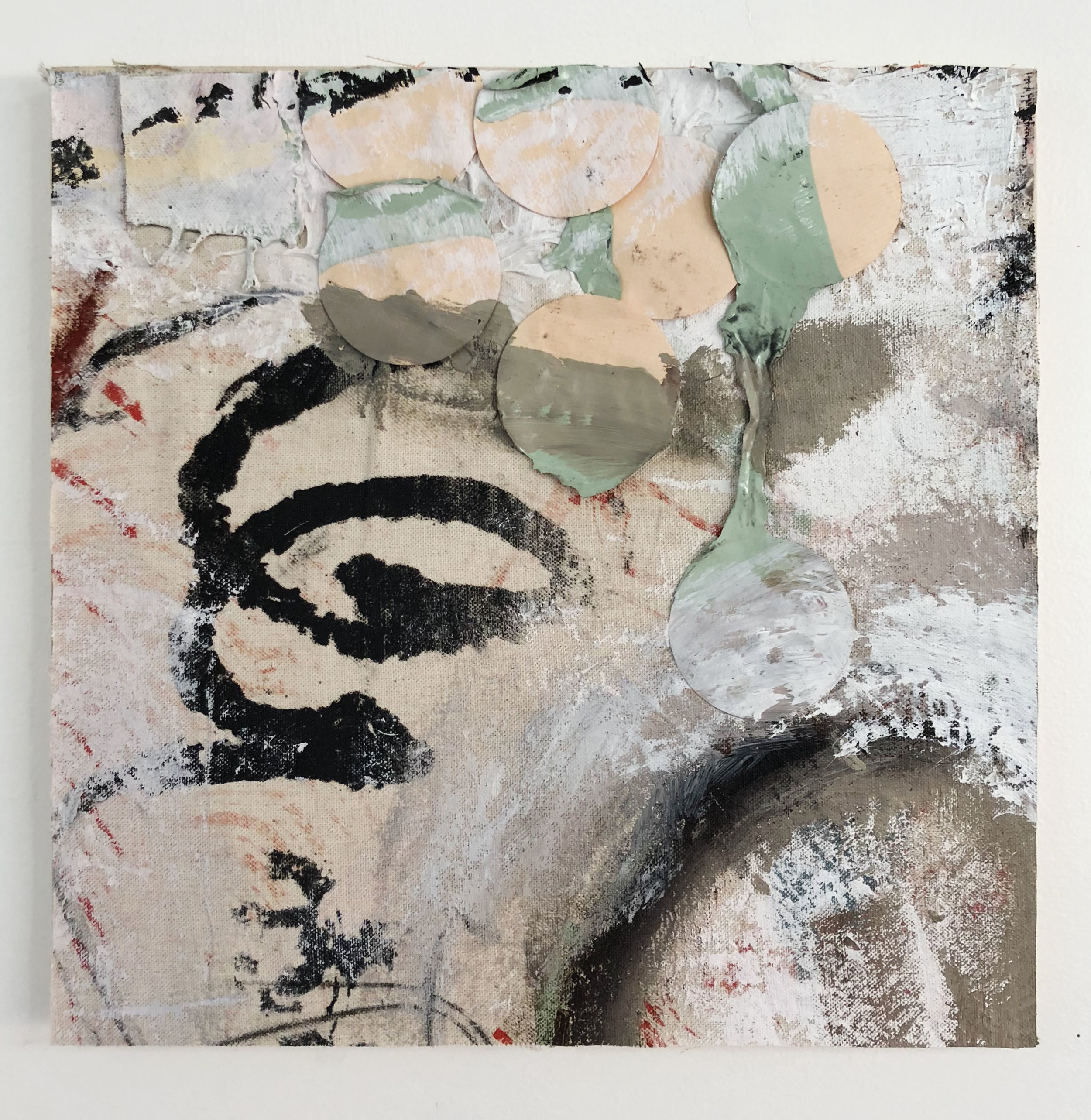 Real & Imagined,  2016-18, Collage, charcoal, acrylic, oil, ink, enamel, serigraphy, canvas, conté on panel