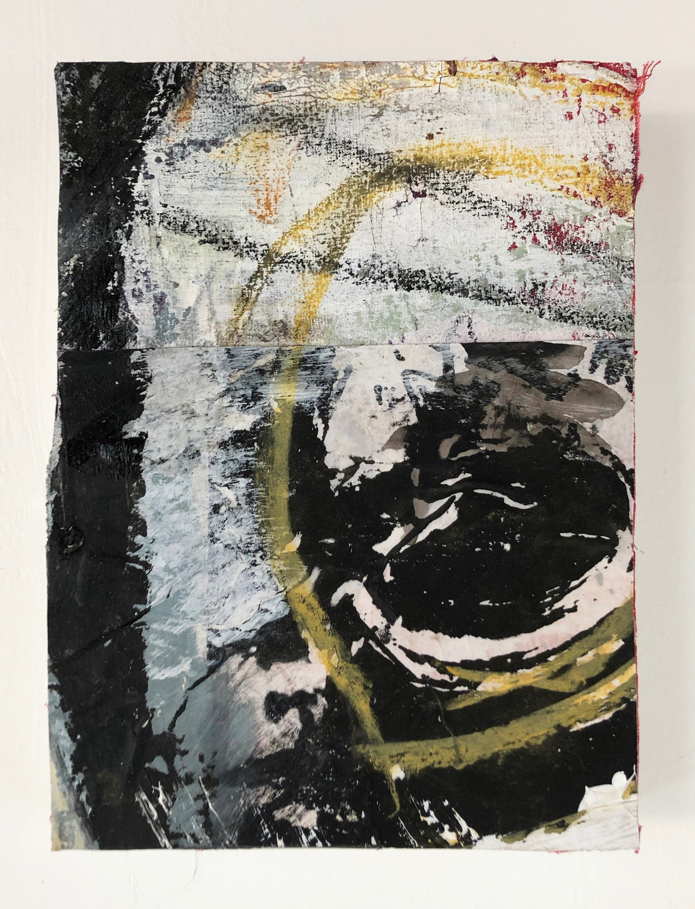 A Collection of Leftovers,  2016-18, Collage, charcoal, acrylic, oil, ink, serigraphy, conté, on canvas