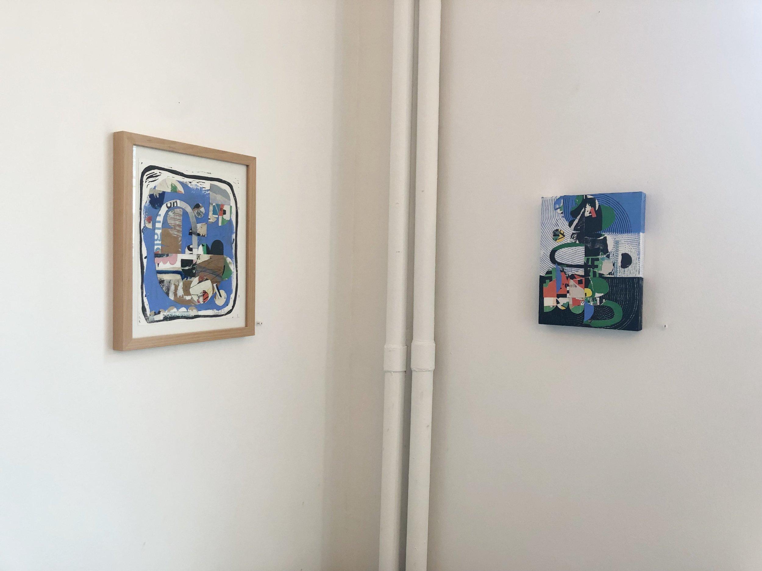 Corner installation view