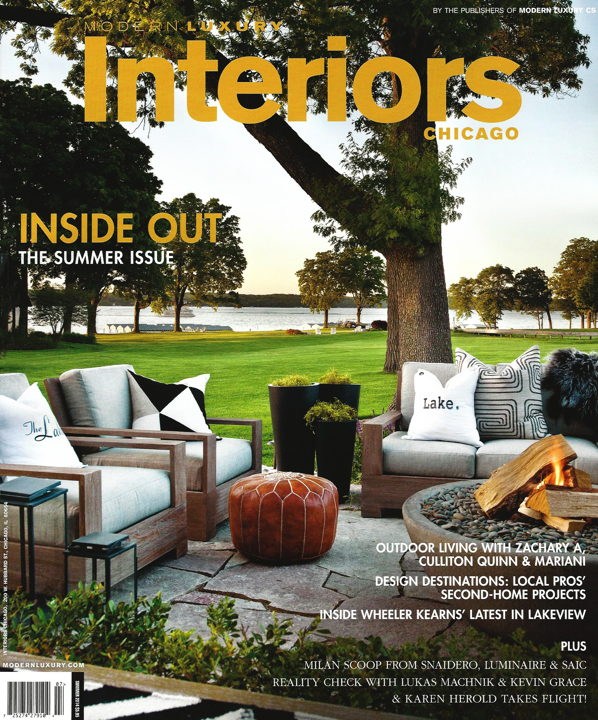 Modern Luxury Interiors Chicago - Summer - pg 112 113 - 2014