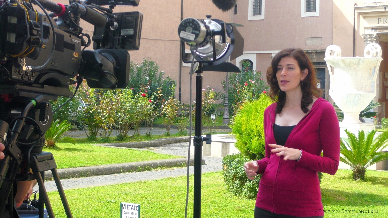 "Filming a segment in Rome for ""Out of Egypt."""