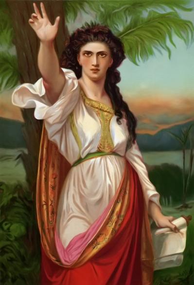 Painting of Deborah by Charles Landelle (1901).