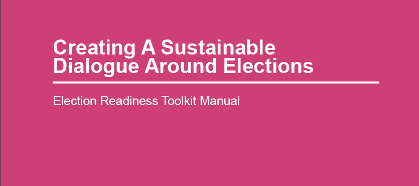 Manual:  Our manual Creating Sustainable Dialogue Around Elections, has been developed to help community organizations, like yours support youth engagement and involvement when an election is called. In it, you'll find community engagement tips, case studies, and other great information.
